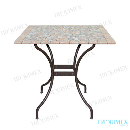 table mosaique fer forg table ronde de jardin en fer forg avec mosaique achat vente table de. Black Bedroom Furniture Sets. Home Design Ideas