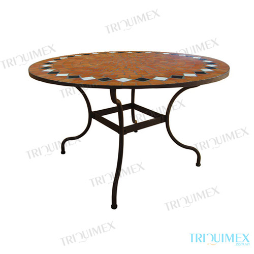 table jardin mosaique ronde metz 1833. Black Bedroom Furniture Sets. Home Design Ideas